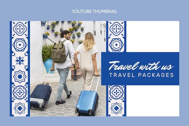 Youtube-thumbnail voor platte reizen