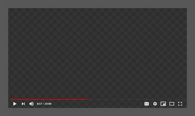 Youtube-webvideospeler-sjabloon Premium Vector