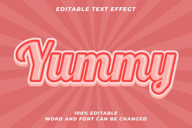 Yummy cake-tekststijleffect