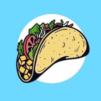 Yummy taco old school tattoo