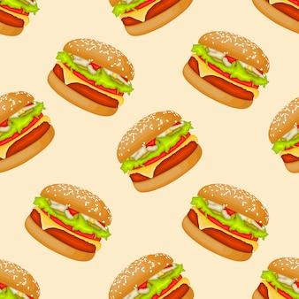 Yummy yummy burgers patroon
