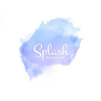 Zacht blauw aquarel splash hand getekend ontwerp