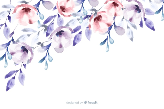 Zacht gekleurde bloemenwaterverfachtergrond