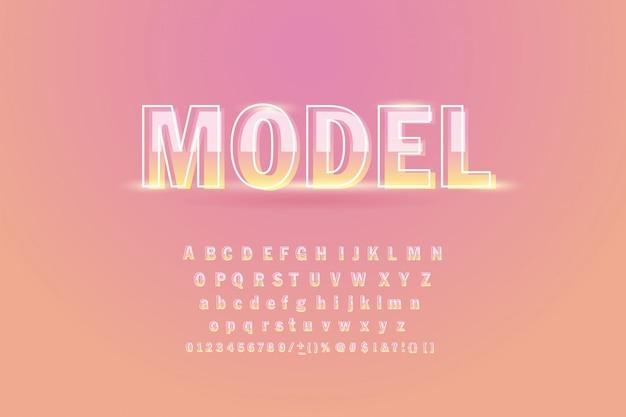 Zacht lettertype op pastel.