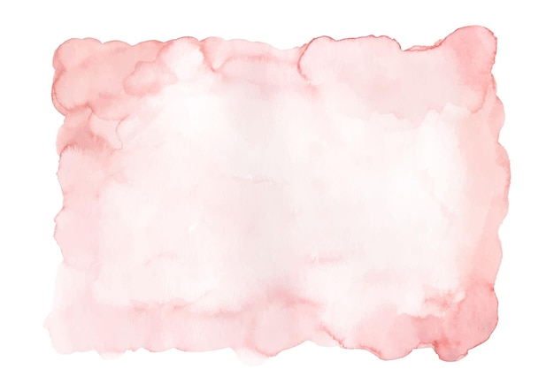Zacht roze aquarel abstracte vlek