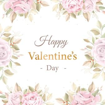 Zacht roze valentijnsdag wenskaart