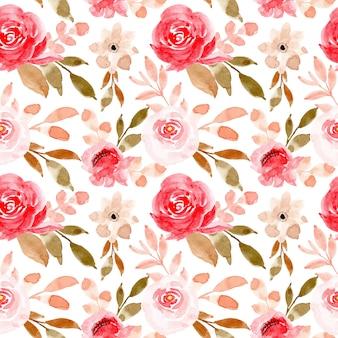 Zacht roze waterverf bloemen naadloos patroon