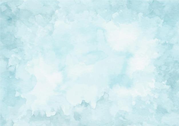 Zachte blauwe abstracte textuurachtergrond met waterverf