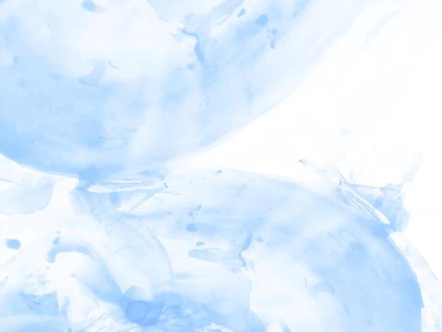 Zachte blauwe aquarel textuur ontwerp achtergrond vector