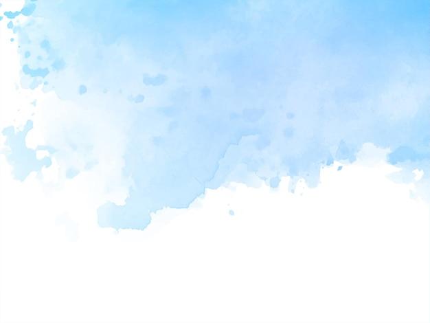 Zachte blauwe aquarel textuur ontwerp achtergrond Gratis Vector
