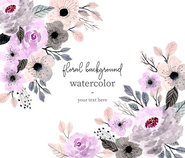 Zachte bloemen aquarel achtergrond