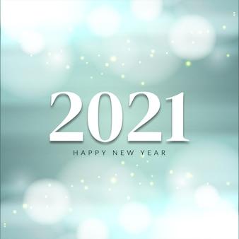 Zachte glanzende gelukkig nieuwjaar 2021 lichte achtergrond