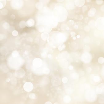Zachte gouden abstracte kerstverlichting.