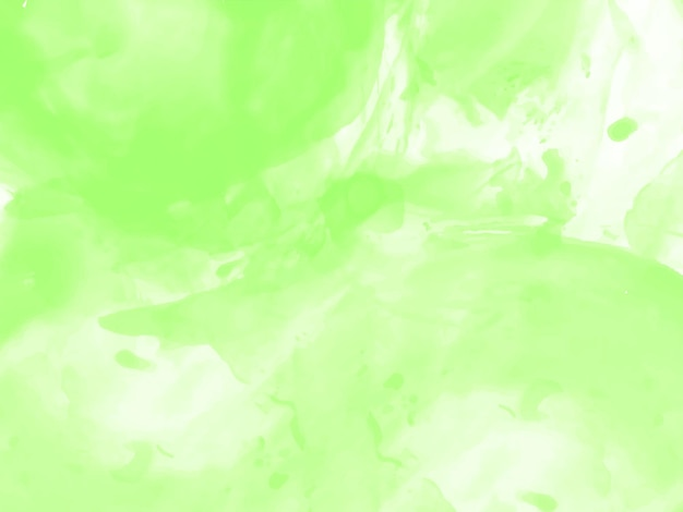 Zachte groene aquarel textuur ontwerp achtergrond vector Gratis Vector