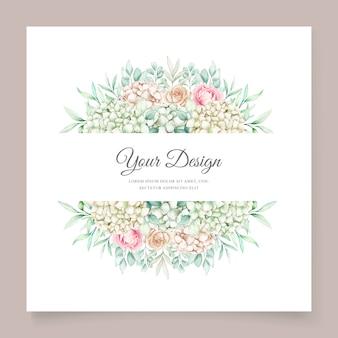 Zachte groene bloemen bruiloft uitnodiging kaartenset