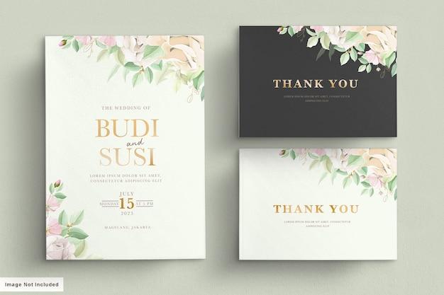 Zachte groene bruiloft kaartenset