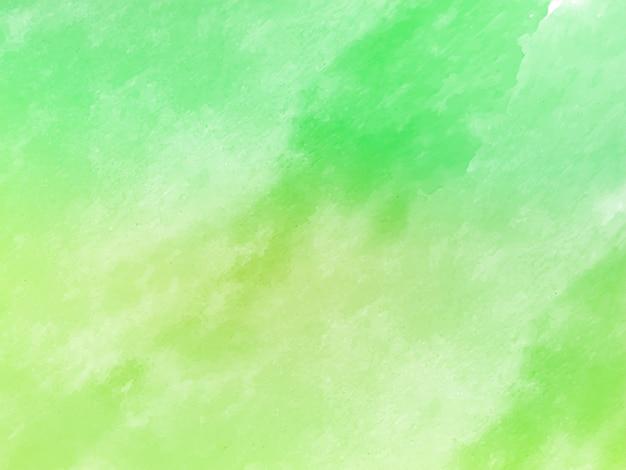 Zachte groene decoratieve aquarel textuur achtergrond