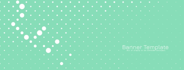 Zachte groene moderne halftone banner