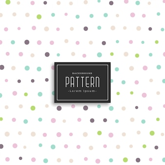 Zachte kleur polka dots patroon achtergrond