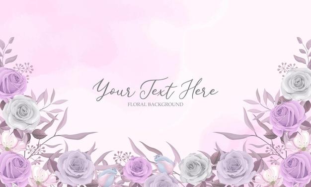 Zachte kleur roze bloem frame met bewerkbare tekst