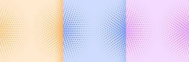 Zachte kleuren abstract halftoon patroon achtergrondontwerp