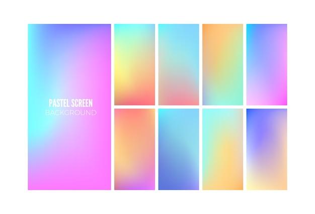 Zachte kleurverloop achtergrond. behangontwerp voor mobiele app.