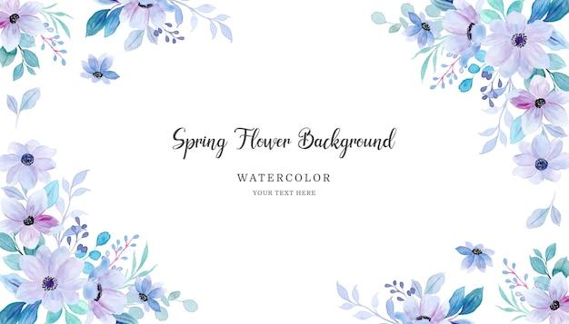 Zachte paarse groene bloemenachtergrond met waterverf