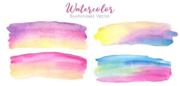 Zachte pastel regenboog aquarel penseelstreken