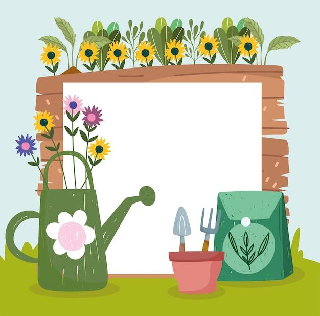 Zaden voor het besproeien van de tuin