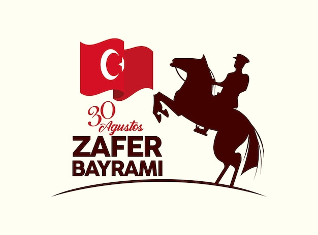 Zafer bayrami soldaat