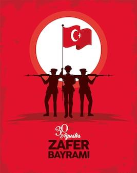 Zafer bayrami-soldaten