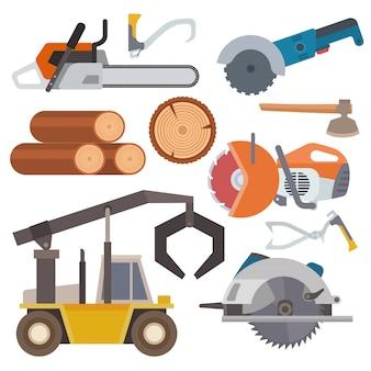 Zagerij houthakker tools loggen apparatuur timmerhout machine industriële hout hout bos