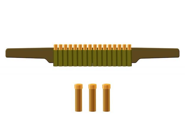 Zak met kogels pictogram in cartoon stijl