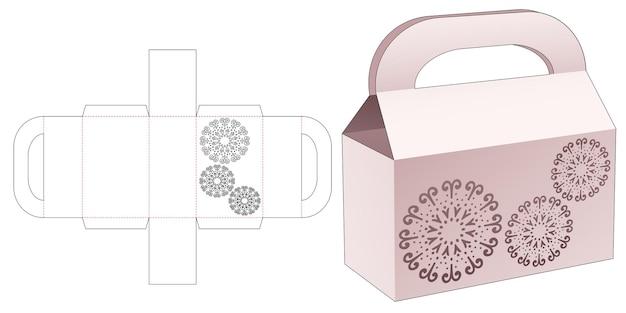 Zakdoos met gestencilde mandala gestanste sjabloon