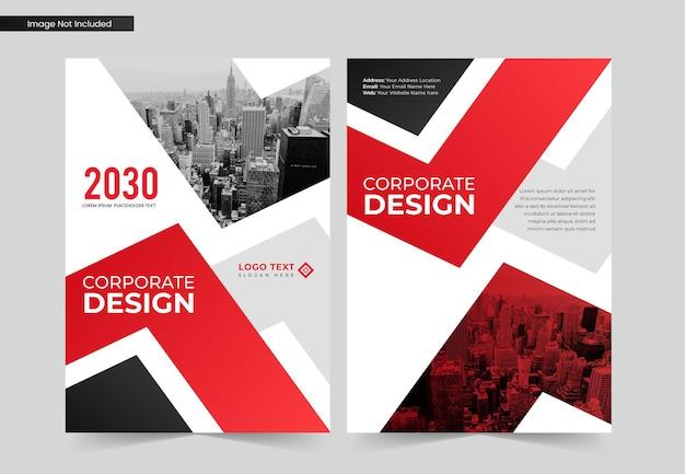 Zakelijk a4 zakelijk boekomslagontwerp en jaarverslag en brochuresjabloon