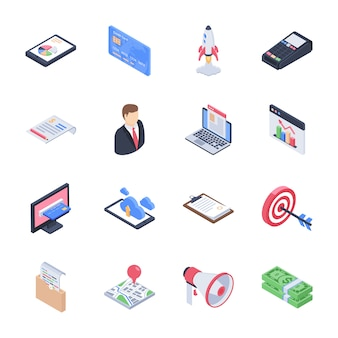 Zakelijk, bedrijfslancering, opstartontwikkeling, pictogrammen voor marktonderzoekpictogrammen
