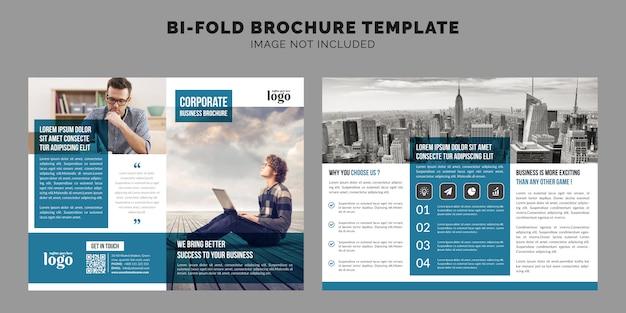 Zakelijk bi-fold brochure template