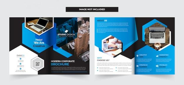 Zakelijk bi-voudige brochure sjabloon