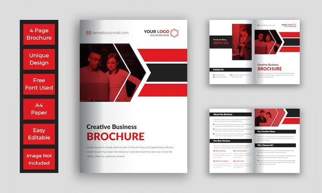 Zakelijk bi vouw brochure sjabloon