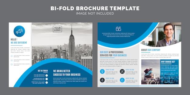 Zakelijk bi-vouw brochure template