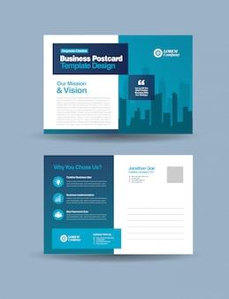 Zakelijk briefkaartontwerp   bewaar de datum uitnodigingskaart   direct mail eddm-ontwerp