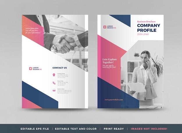 Zakelijk brochureomslagontwerp of jaarverslag en bedrijfsprofiel of boekje en catalogusomslag
