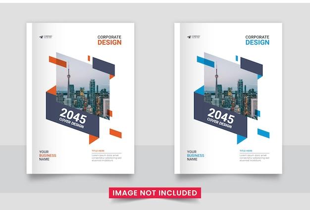 Zakelijk brochureomslagontwerp of jaarverslag en bedrijfsprofiel of brochureomslagontwerpset