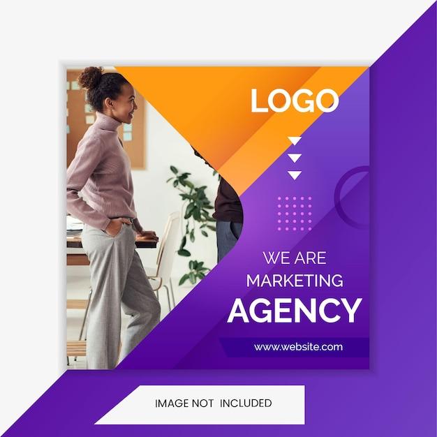 Zakelijk, bureau, marketing instagram-post en bannersjabloon