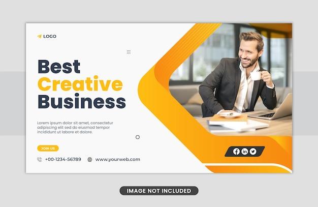 Zakelijk concept webbannerontwerp