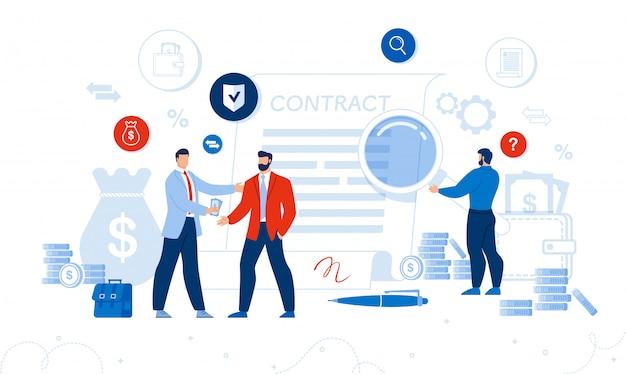 Zakelijk contract, financiële administratie, audit