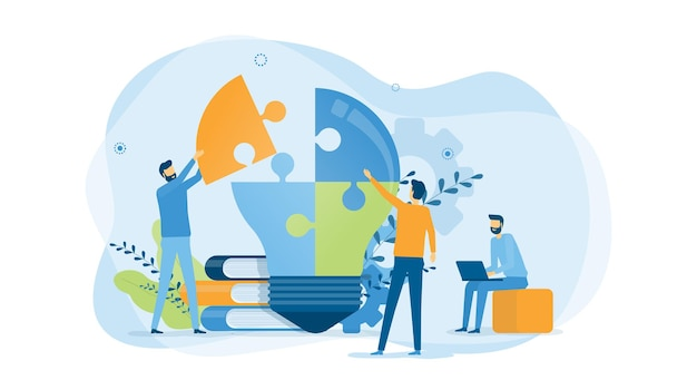 Zakelijk creatief proces en zakelijke teamvergadering voor brainstormen