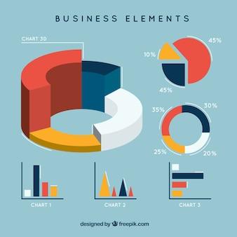 Zakelijk elementen infographic