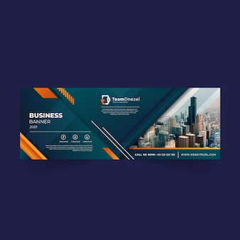 Zakelijk facebook cover social media banner template