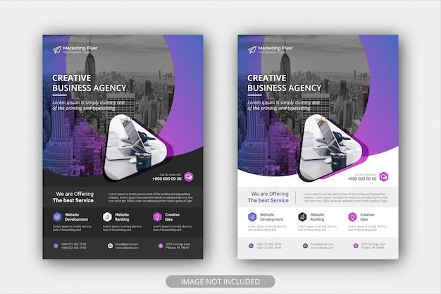 Zakelijk flyer-affichemalplaatje met gradiëntkleur. brochure cover ontwerp lay-outachtergrond